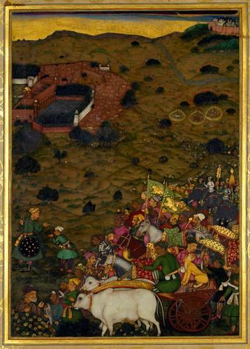 Master: The Padshahnama Item: A Royal procession