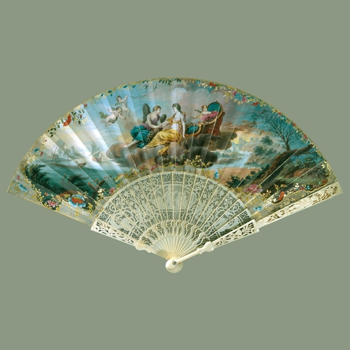 Fan depicting 'Cupid and Psyche'