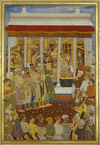 Master: The Padshahnama Item: The Weighing of Shah-Jahan on his 42nd lunar birthday (23 October 1632)