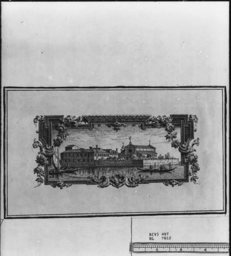 Vignette of the Isola di S. Lazzaro degli Armeni
