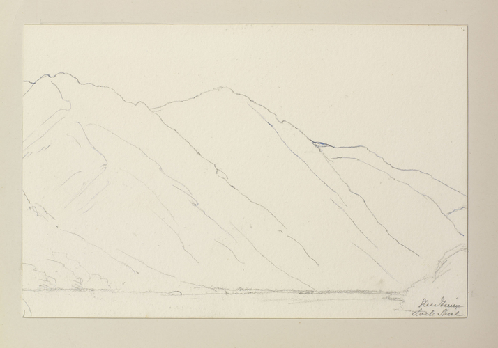 Master: Queen Victoria's Sketches Vol. II (1872-1892) Item: Glen Finnan, Loch Shiel