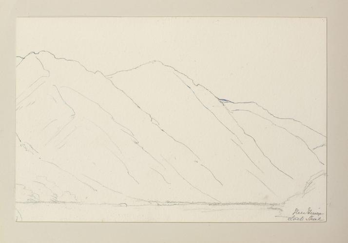 Master: SKETCHES BY QUEEN VICTORIA II Item: Glen Finnan, Loch Shiel