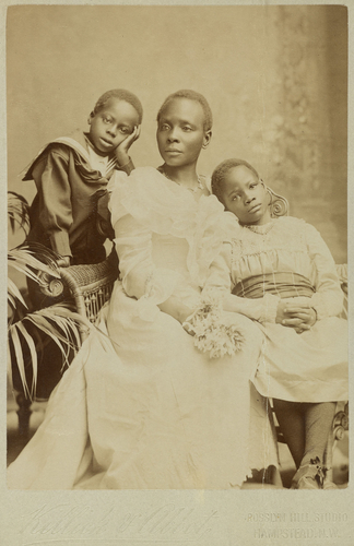 Mrs Victoria Randle with her two children