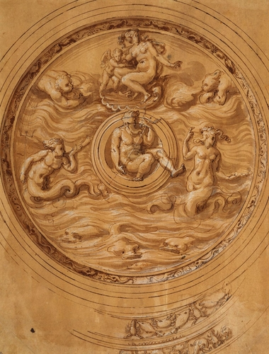 Design for a salver with Neptune in the centre