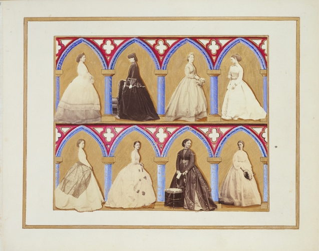 Collage design by Alexandra, Princess of Wales, including photographs, c. 1866-69
