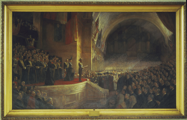 The Opening of the First Parliament of the Commonwealth of Australia, 9th May 1901