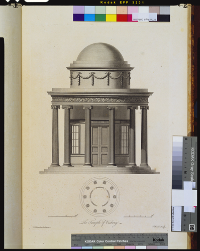 Plans, elevations, sections and perspective views of the gardens and buildings at Kew in Surrey, the seat of Her Royal Highness the Princess Dowager of Wales/by William Chambers
