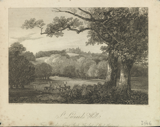 St Leonard's Hill from Windsor Great Park, The Seat of Earl Harcourt
