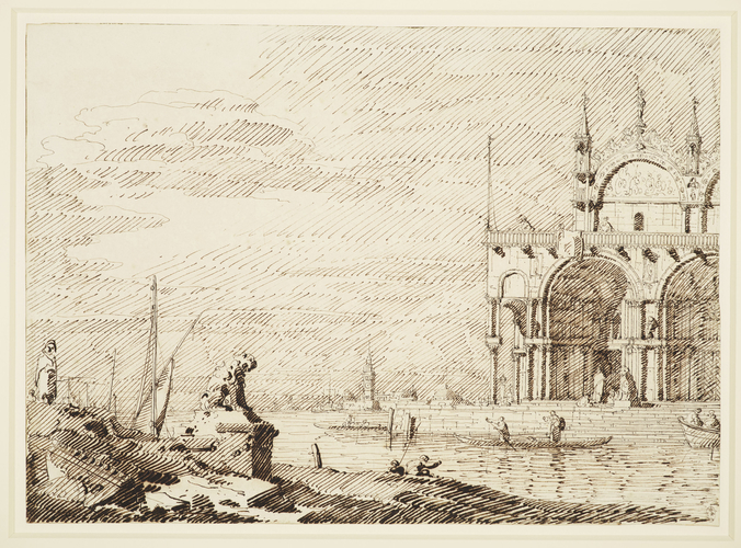 A capriccio with San Marco in the lagoon