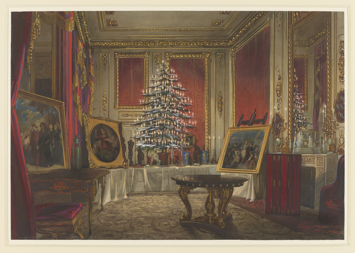 Queen Victoria's Christmas tree at Windsor Castle, 1850