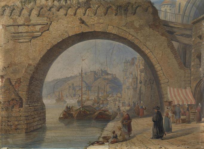 Ehrenbreitstein from the Moselle Bridge at Koblenz