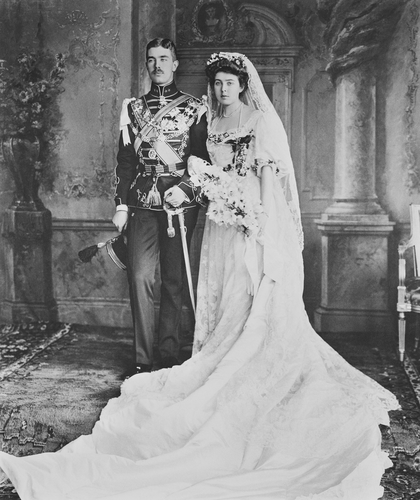 Unknown Person Prince Gustaf Adolf Of Sweden And Princess