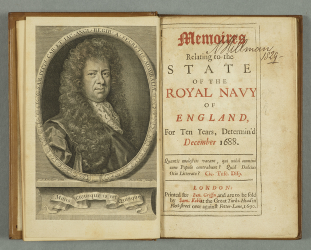 Memoires relating to the state of the Royal Navy of England, for ten years, determin'd December 1688 / by [Samuel Pepys]