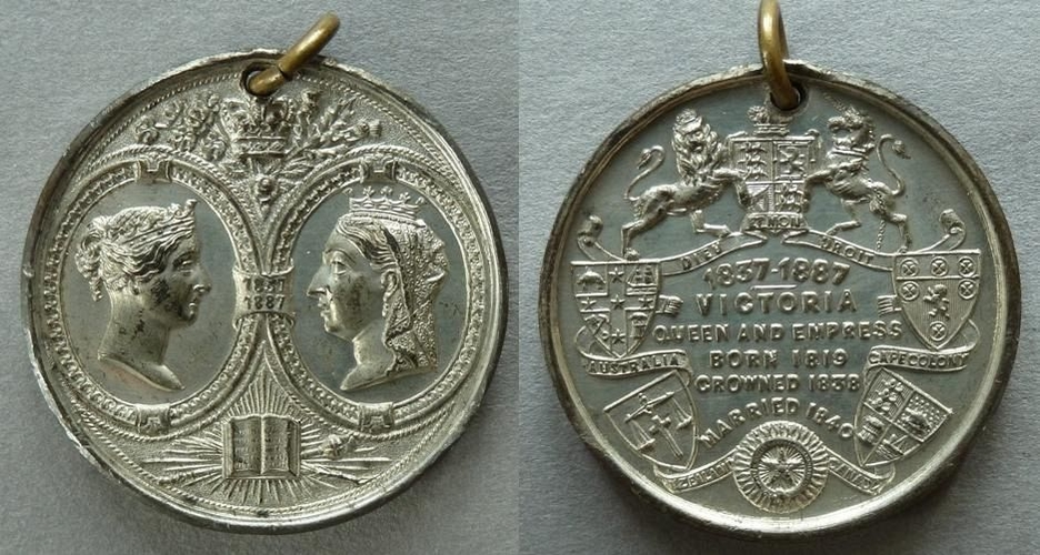 WO Lewis - Medal commemorating the Golden Jubilee of the