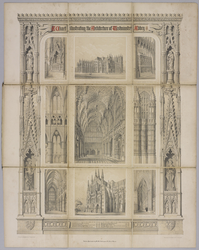 A Chart illustrating the Architecture of Westminster Abbey / by F. Bedford Jnr