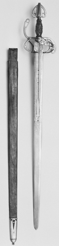 Arming sword and scabbard
