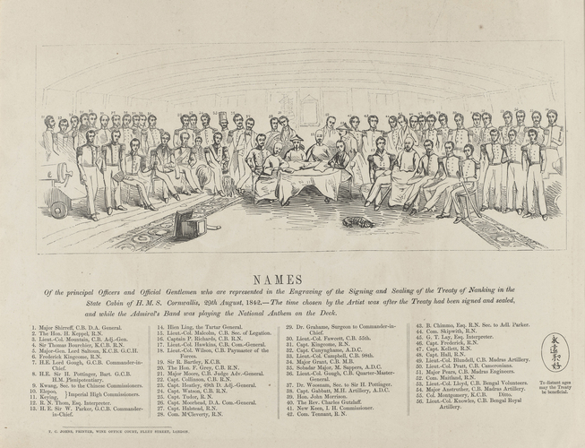 Signing of the Treaty of Nanking. 29 Aug 1842