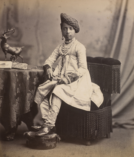 Shivaji IV, Raja of Kolhapur (1863-83): Prince of Wales Tour of India 1875-6