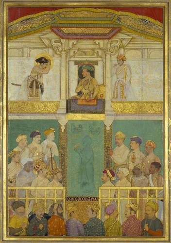 Master: The Padshahnama Item: Jahangir receives Prince Khurram (April 1616)