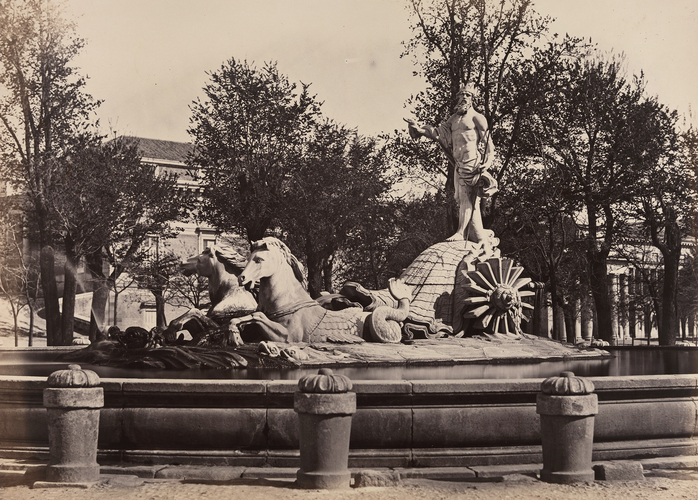 Fountain of Neptune in the Prado, Madrid: Photographic Souvenir of Spain Vol I, 1861 Charles Clifford