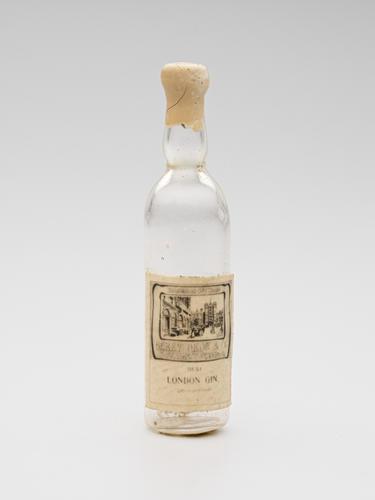 Bottle of London gin