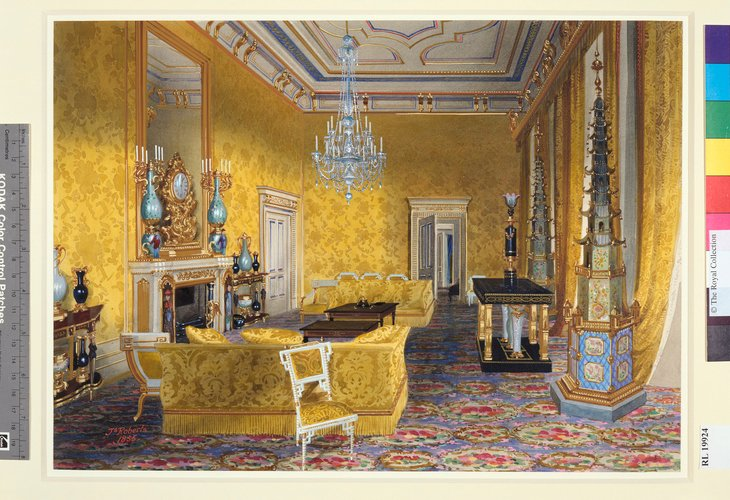 Buckingham Palace: The Yellow Drawing Room