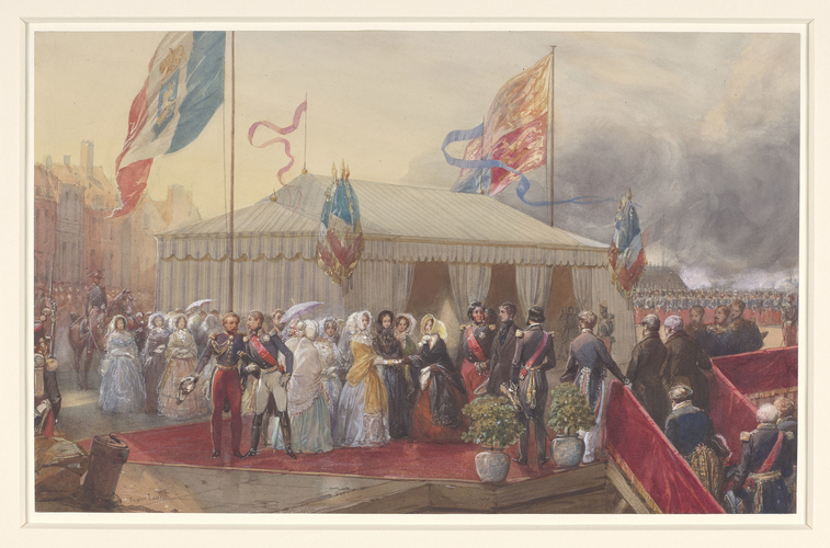 Marie-Amelie, Queen of the French, greets Queen Victoria at Le Treport