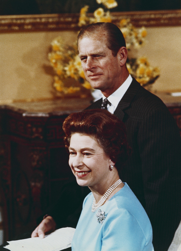 HM The Queen and HRH The Duke of Edinburgh on the occasion of their Silver Wedding anniversary