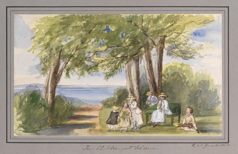 Master: Queen Victoria's Sketchbook (1848-54) Item: The Children at Osborne