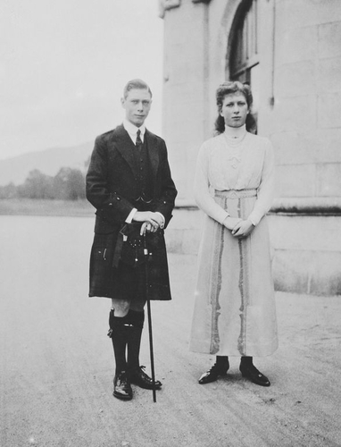 Photograph of Prince Albert and Princess Mary at Balmoral, 1913