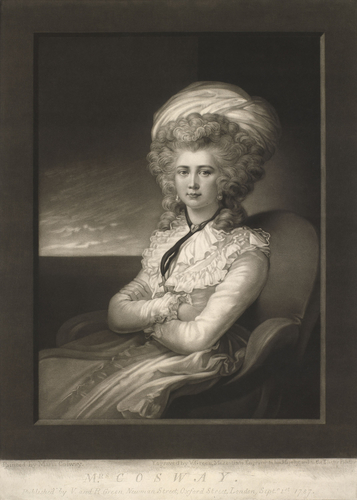 A self-portrait of Maria Cosway
