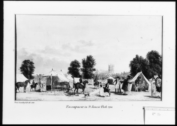 Encampment in St James's Park 1780