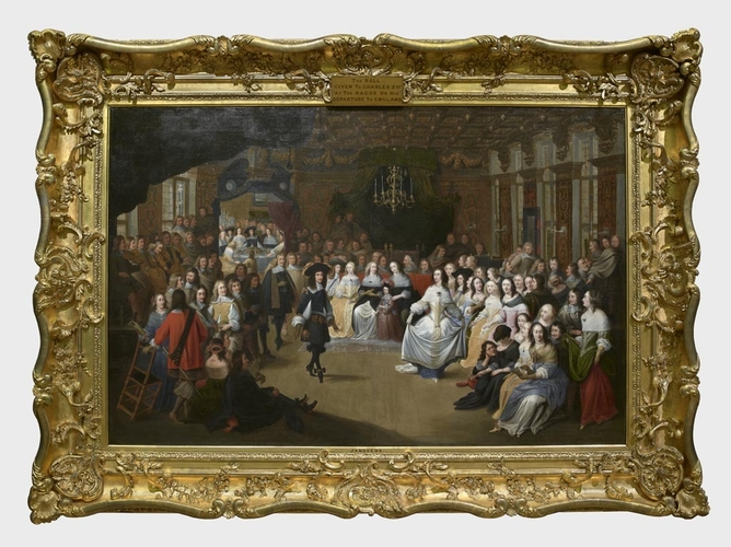 Frame for RCIN 400525, Janssens, Charles II Dancing at a Ball