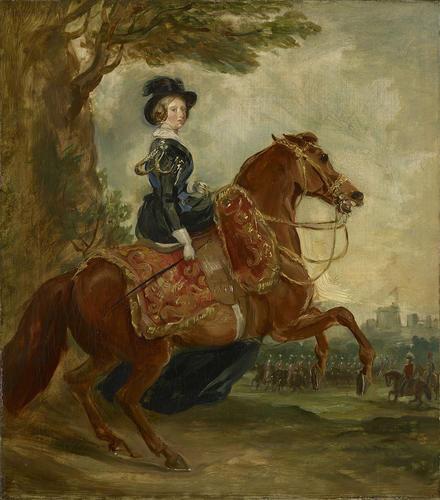 Queen Victoria (1819-1901) on Horseback
