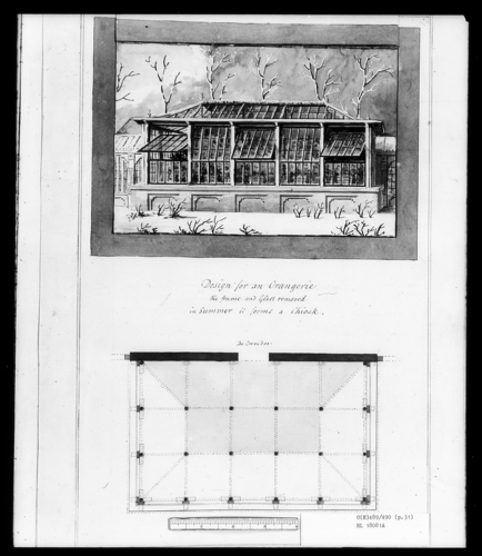 Designs for the Pavilion at Brighton: Design for an Orangerie