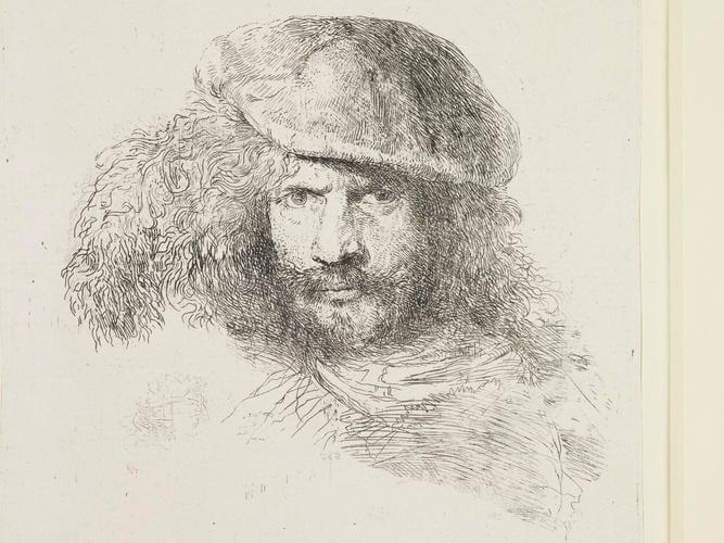 Master: Studies of Heads of Men in Oriental Head-dresses (large) Item: A presumed self-portrait