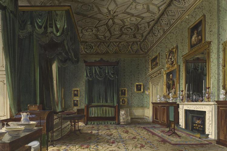 James Roberts (c. 1800-67) - Buckingham Palace: the Queens Bedroom