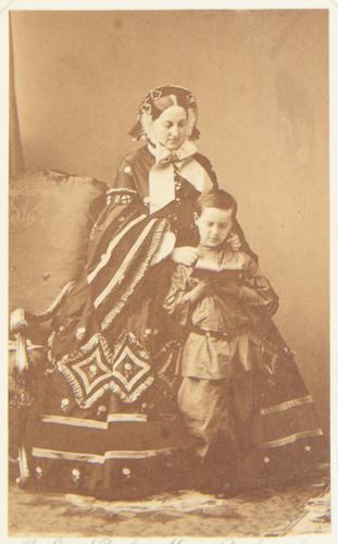 Grand Duchess Marie, Duchess of Leuchtenberg (1819-76) with her son, Prince George (1852-1912)