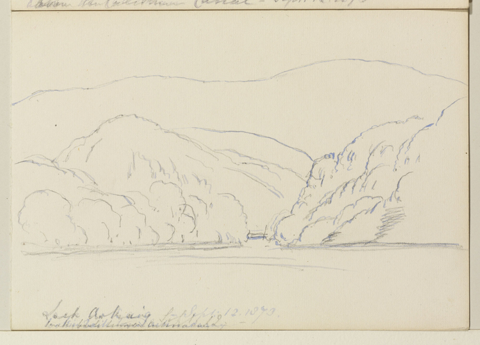 Master: Queen Victoria's Sketches Vol. II (1872-1892) Item: Loch Arkaig & In Glencoe