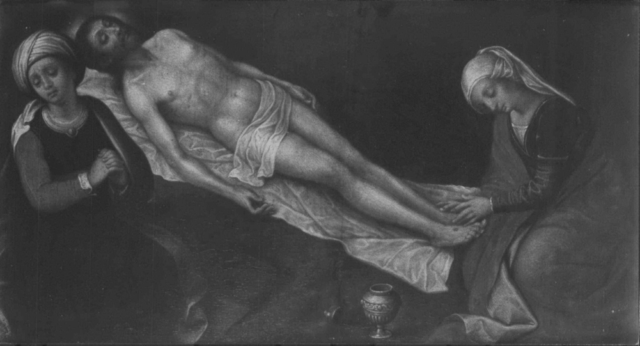 The Dead Christ Lamented by one of the Maries and the Magdalen (a fragment)