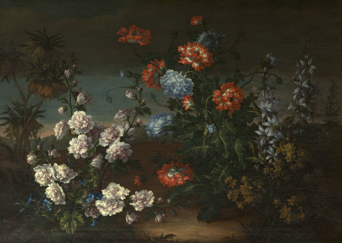 Still-Life with Flowers in a Landscape