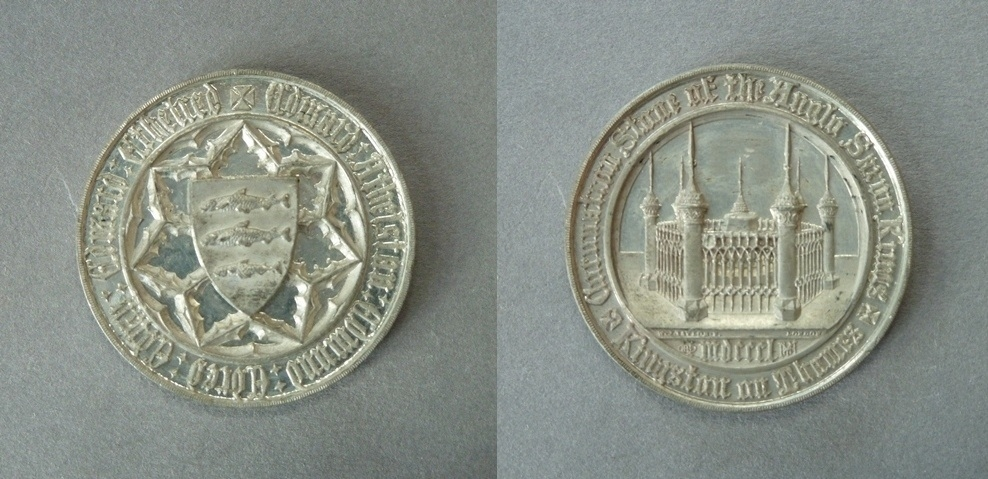 Medal commemorating the inauguration of the Monument for the Coronation Stone of the Anglo-Saxon Kings at Kingston-upon-Thames