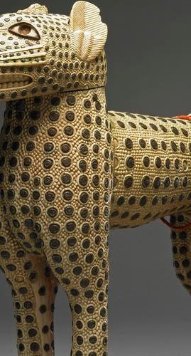 Carved leopards