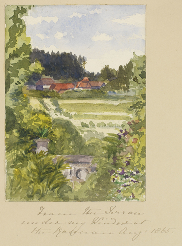 Master: SKETCHES FROM NATURE V. R. 1865 TO 1867 Item: From the Terrace under my Window at the Rosenau