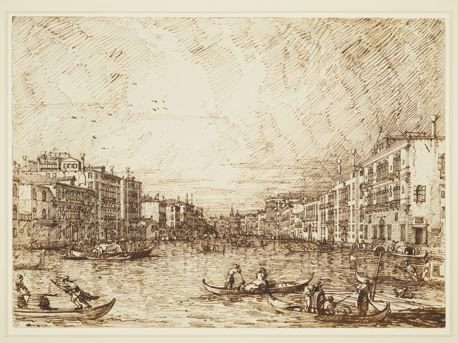 Venice: The central stretch of the Grand Canal