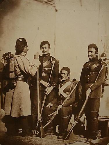 'Infanterie Turque en campagne' [Crimean War: Turkish infantry]