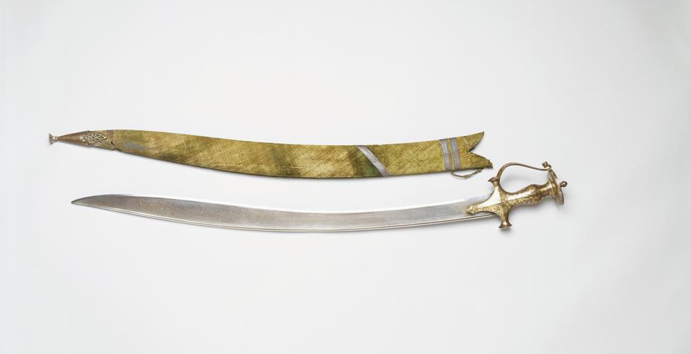 Sword and scabbard (talwar)
