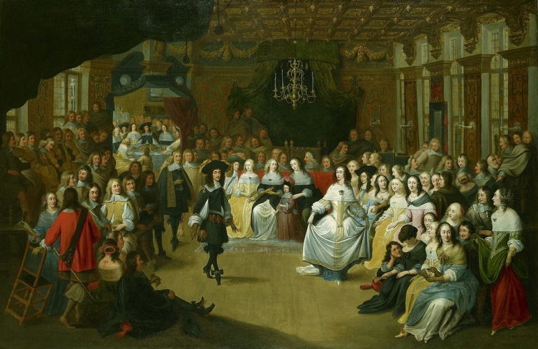 Charles II dancing at a Ball at Court