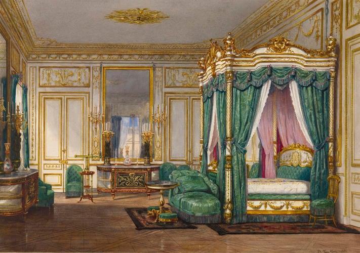 Queen Victorias Bedroom At Saint Cloud, Queen Victoria Bed
