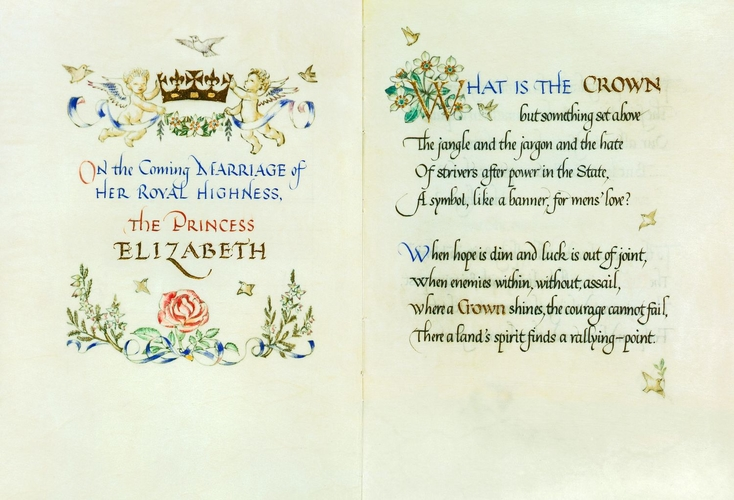 On the coming marriage of Her Royal Highness the Princess Elizabeth